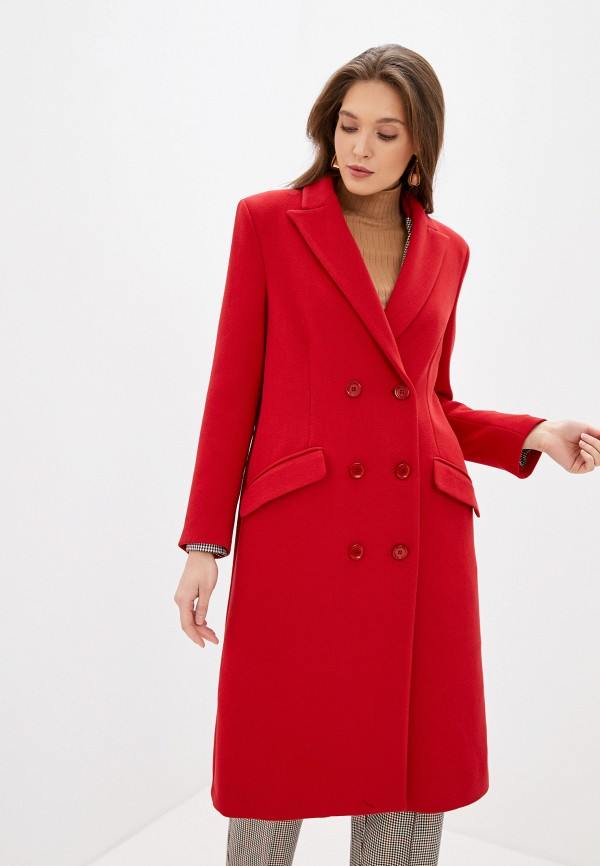 женское пальто imperial, красное
