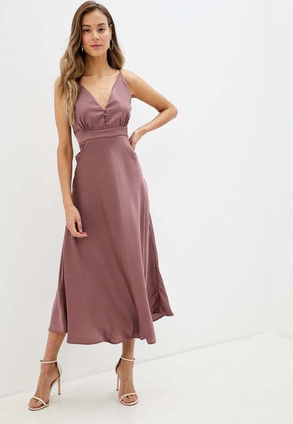 женское вечерние платье imperial, коричневое