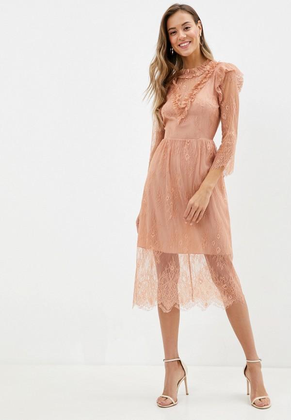 женское вечерние платье imperial, бежевое