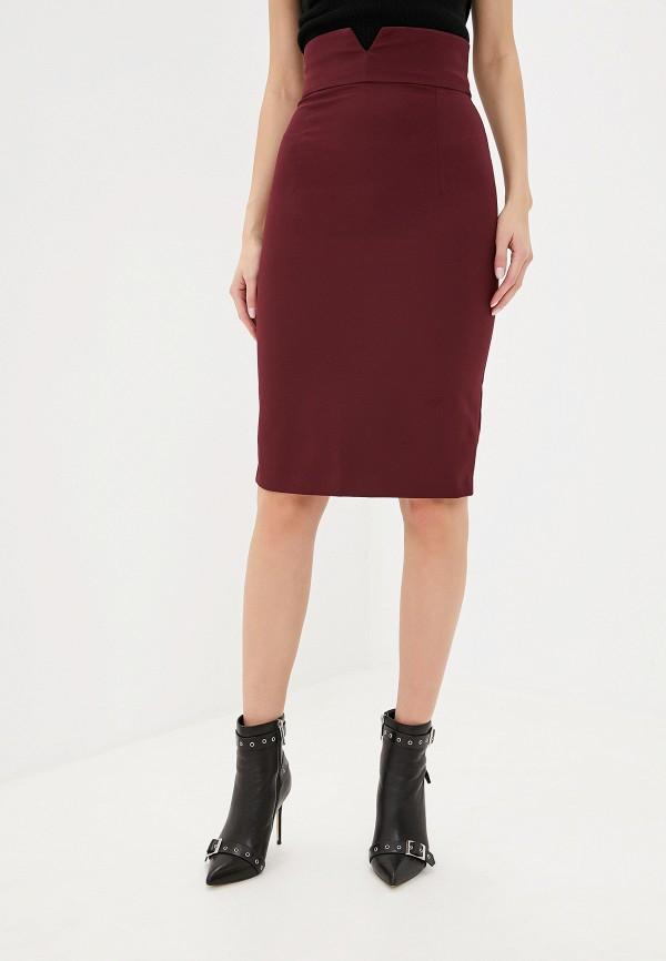 женская прямые юбка imperial, бордовая