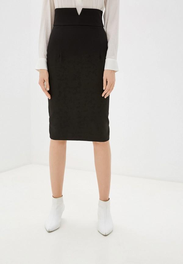 женская зауженные юбка imperial, черная