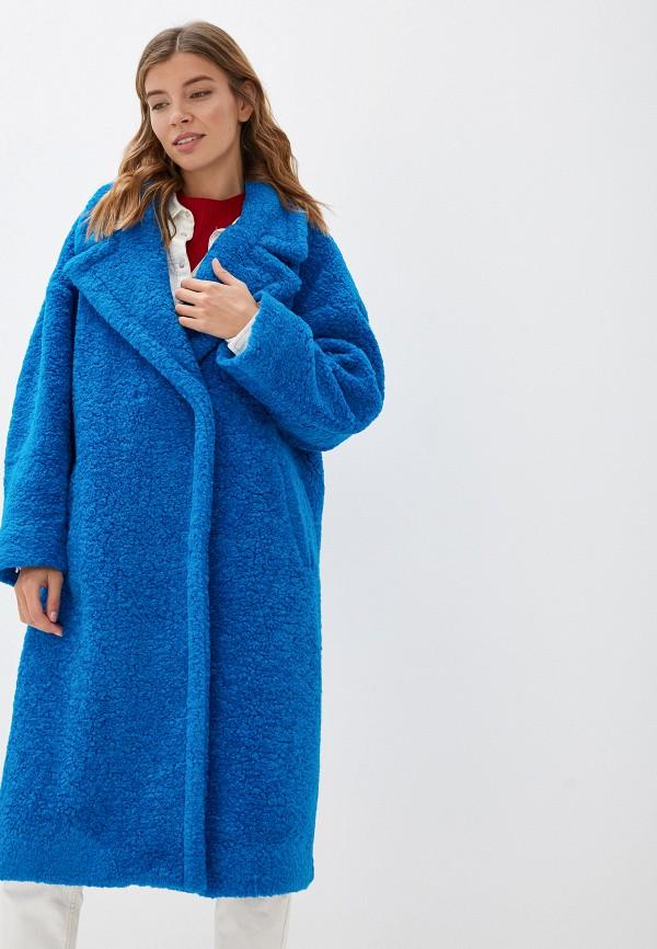 женская шуба imperial, синяя