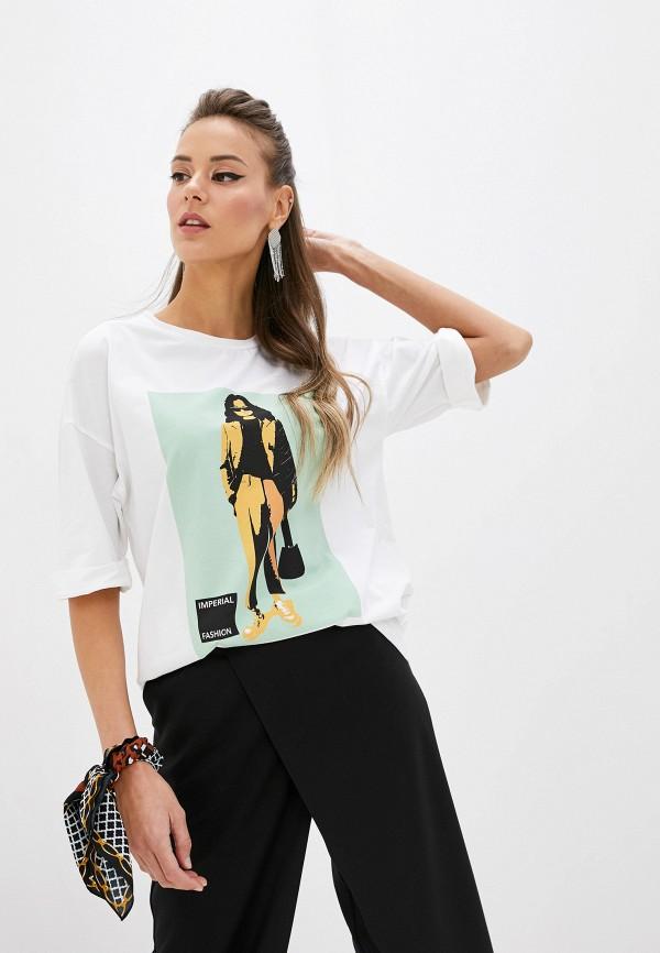 женская футболка imperial, белая