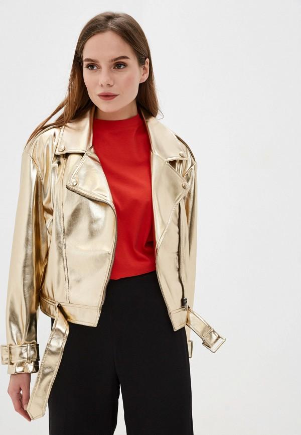 женская куртка imperial, золотая