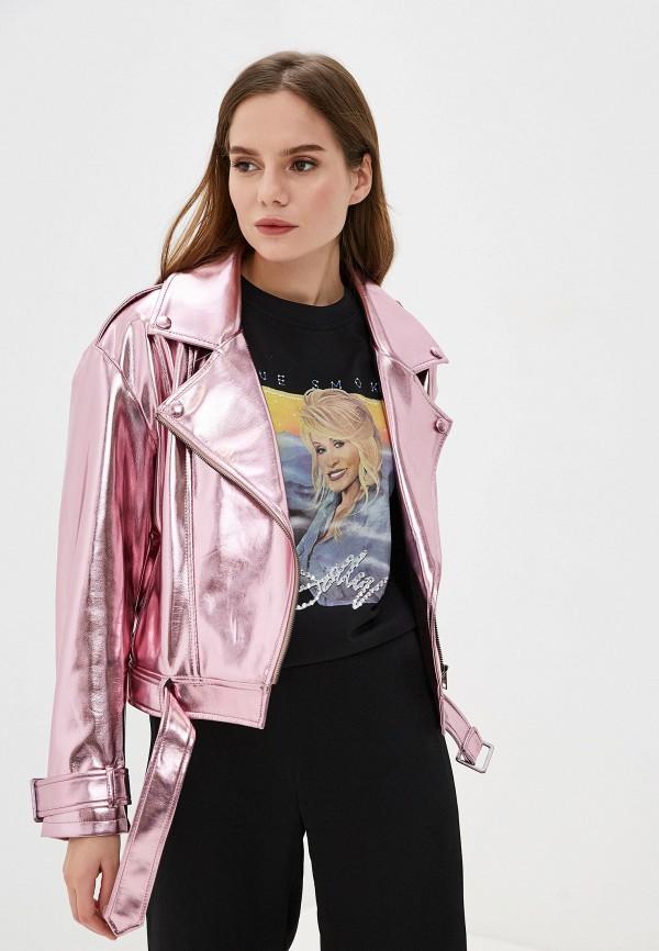 женская куртка imperial, розовая