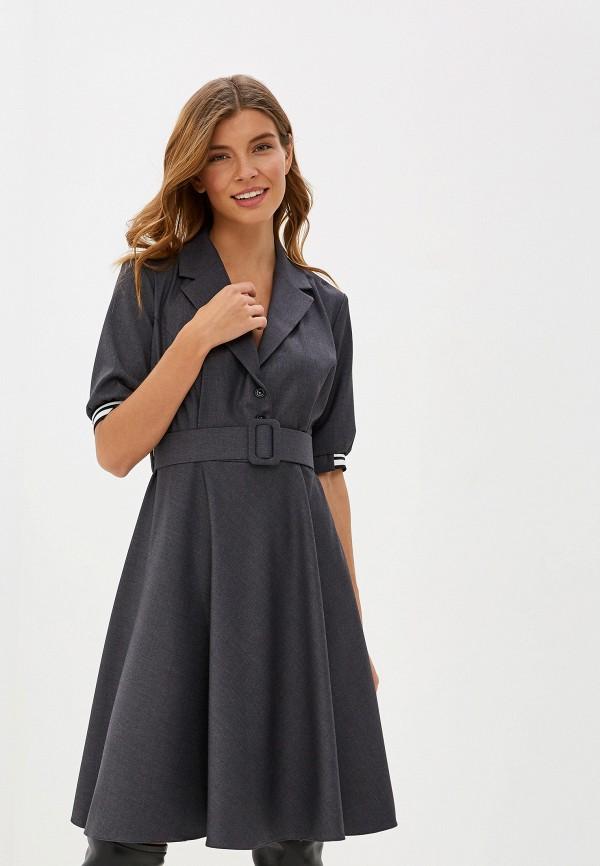 женское платье-футляр imperial, серое