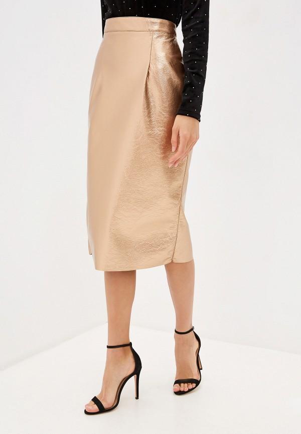 женская юбка imperial, золотая