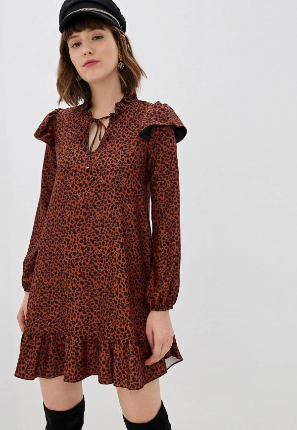 женское повседневные платье imperial, коричневое
