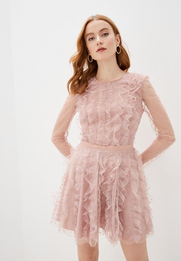 женское вечерние платье imperial, розовое