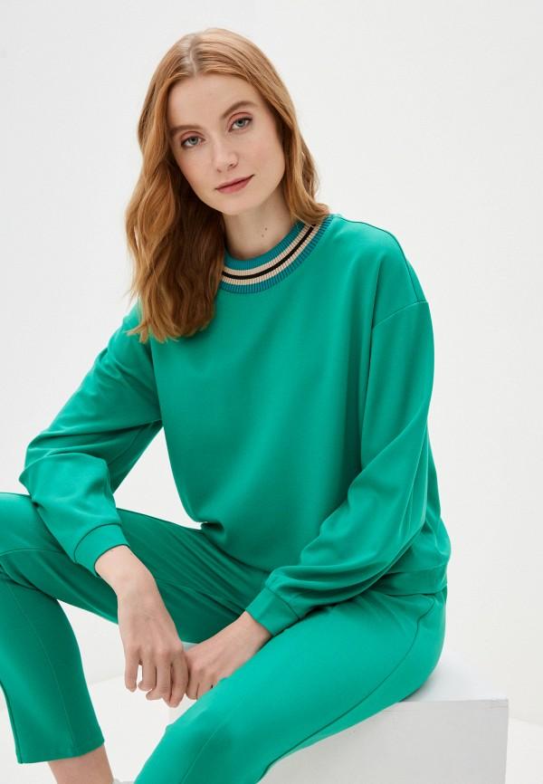 женский свитшот imperial, зеленый