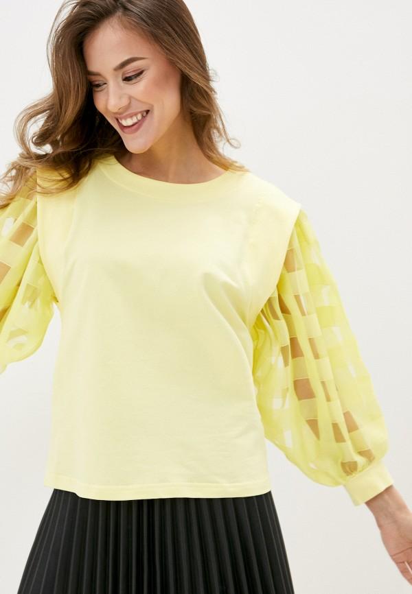 женский свитшот imperial, желтый