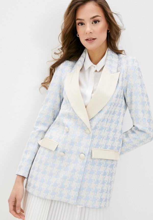 женский пиджак imperial, голубой