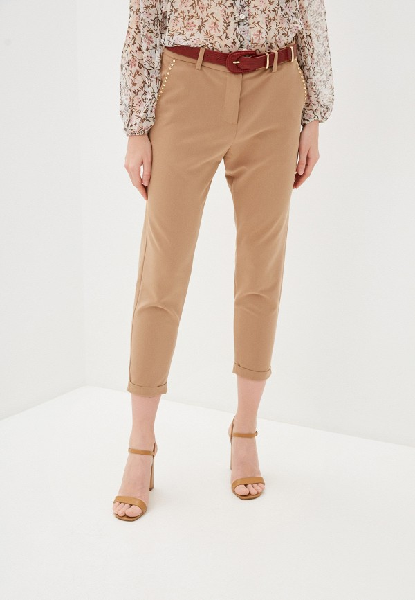 женские классические брюки imperial, бежевые