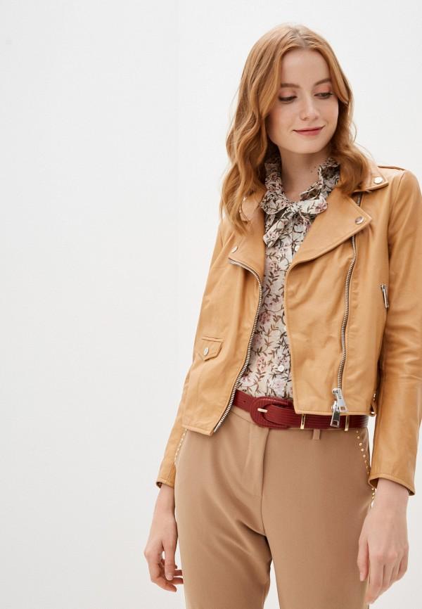 женская куртка imperial, бежевая