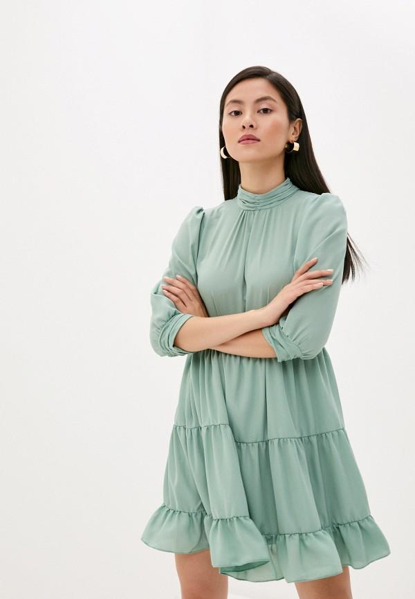 женское повседневные платье imperial, бирюзовое