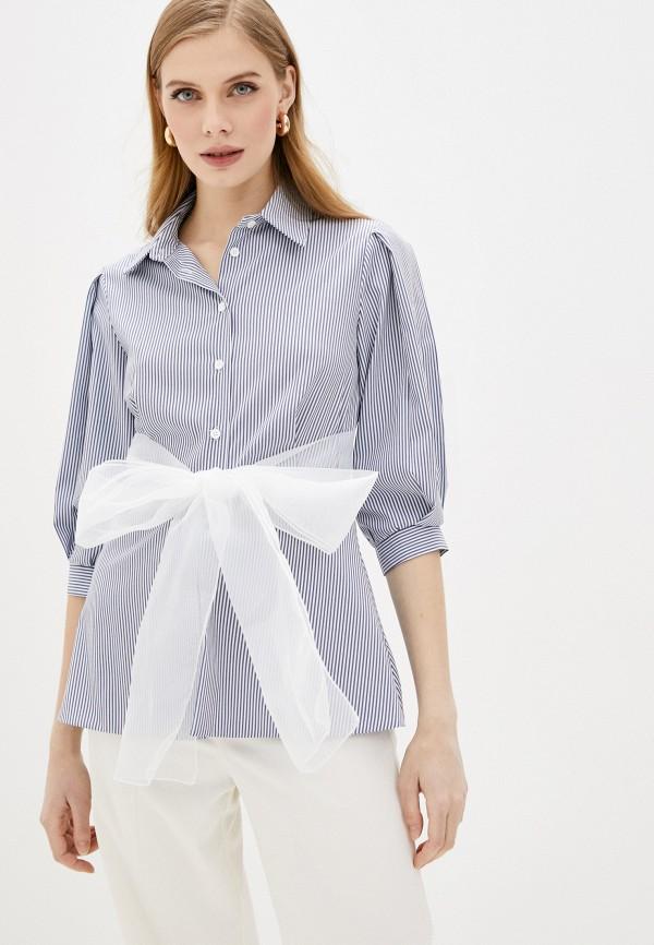 женская блузка imperial, синяя