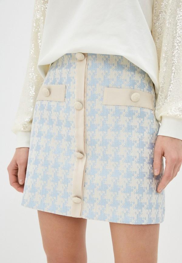 женская прямые юбка imperial, голубая