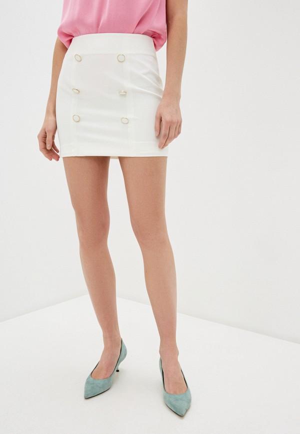 женская зауженные юбка imperial, белая