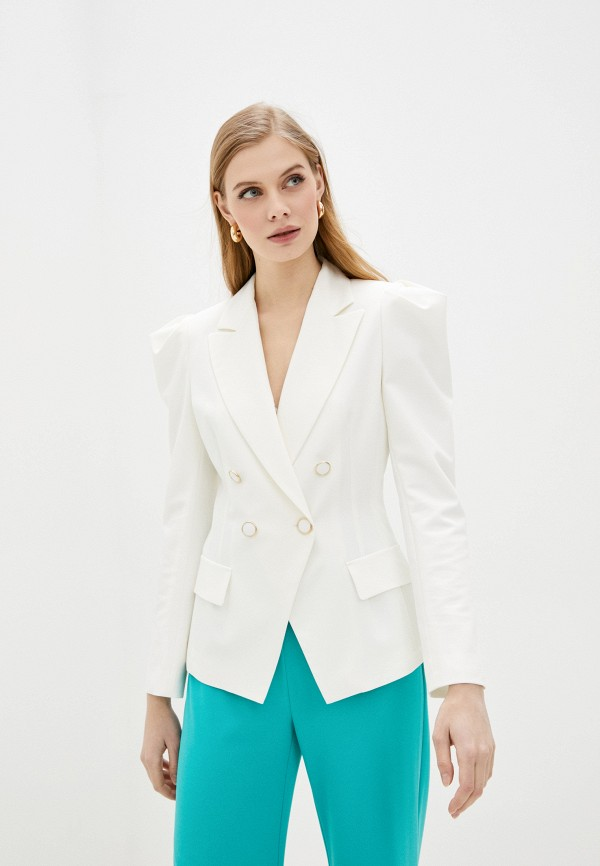 женский пиджак imperial, белый
