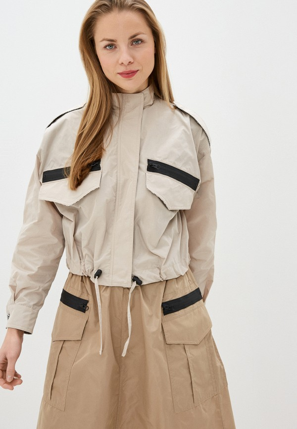 женская куртка imperial, серая