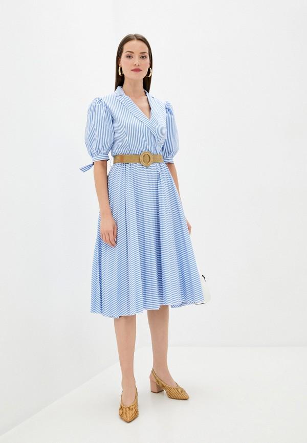 женское повседневные платье imperial, голубое