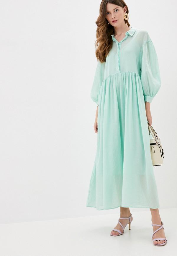 женское платье imperial, бирюзовое