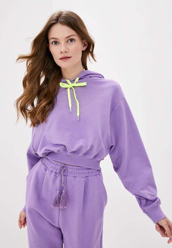 женские худи imperial, фиолетовые