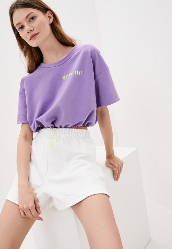 женский свитшот imperial, фиолетовый