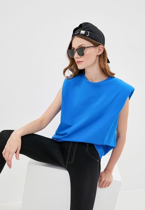 женская футболка imperial, синяя