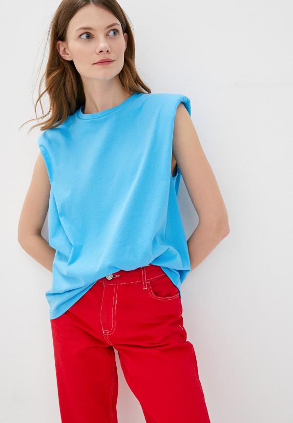 женская футболка imperial, бирюзовая
