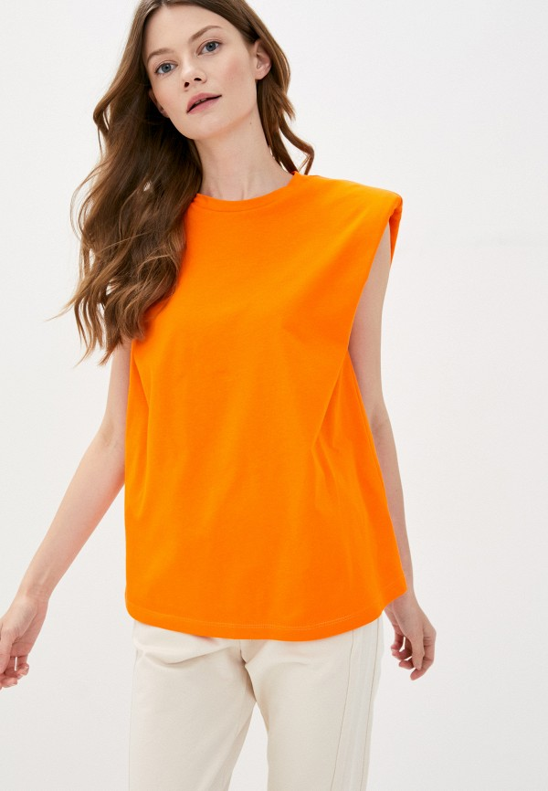 женская футболка imperial, оранжевая
