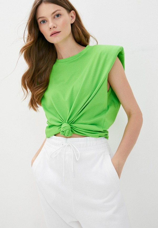 женская футболка imperial, зеленая