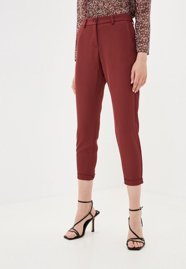 женские повседневные брюки imperial, бордовые