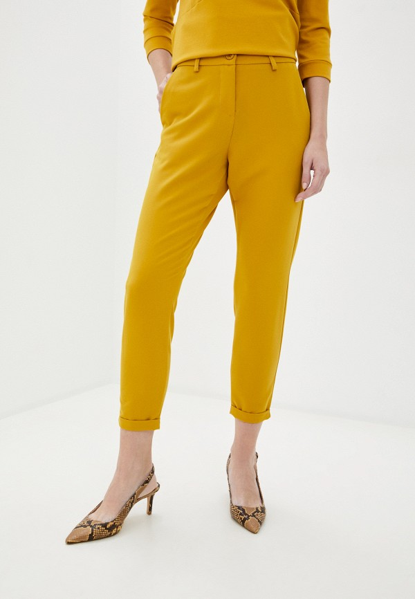 женские повседневные брюки imperial, желтые