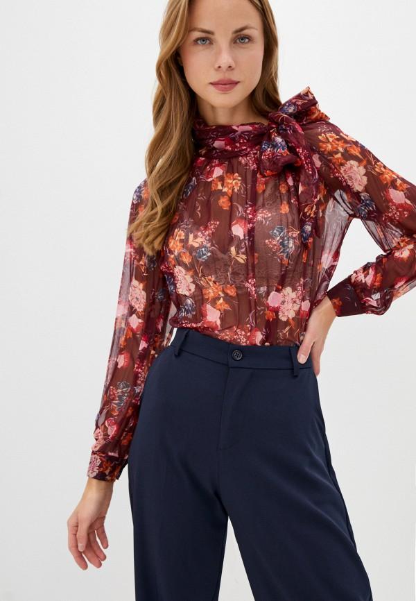 женская блузка imperial, бордовая