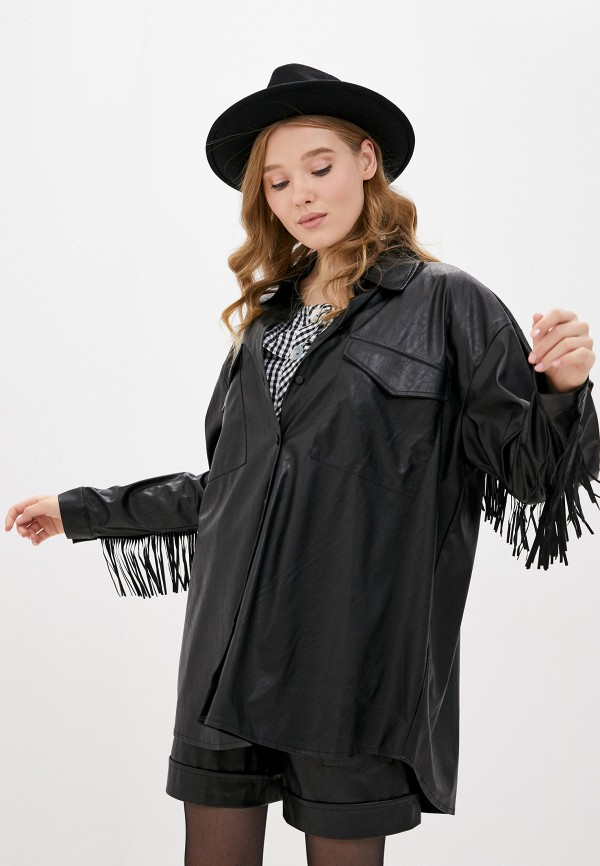 женская рубашка с длинным рукавом imperial, черная