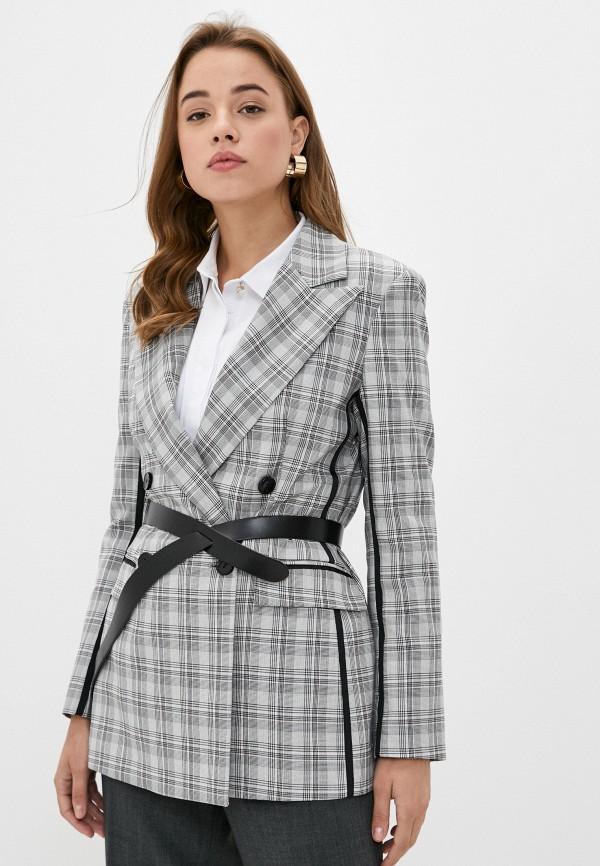 женский пиджак imperial, серый