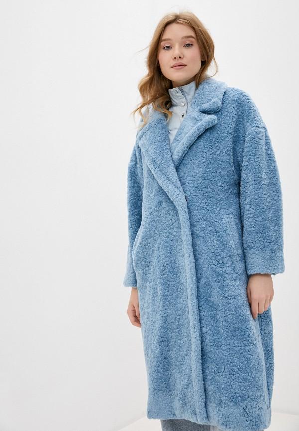 женская шуба imperial, голубая