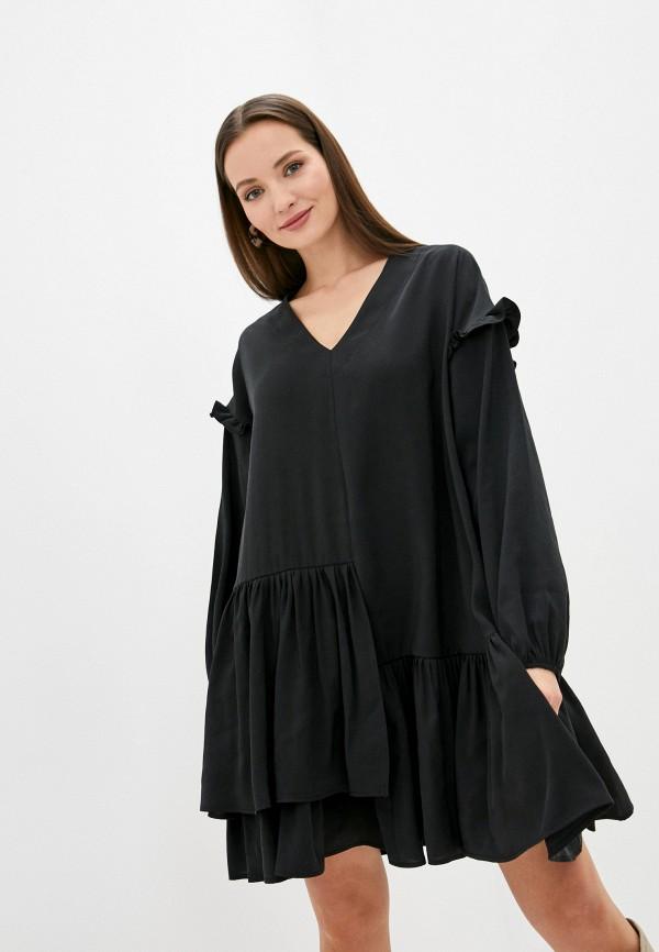 женское повседневные платье imperial, черное