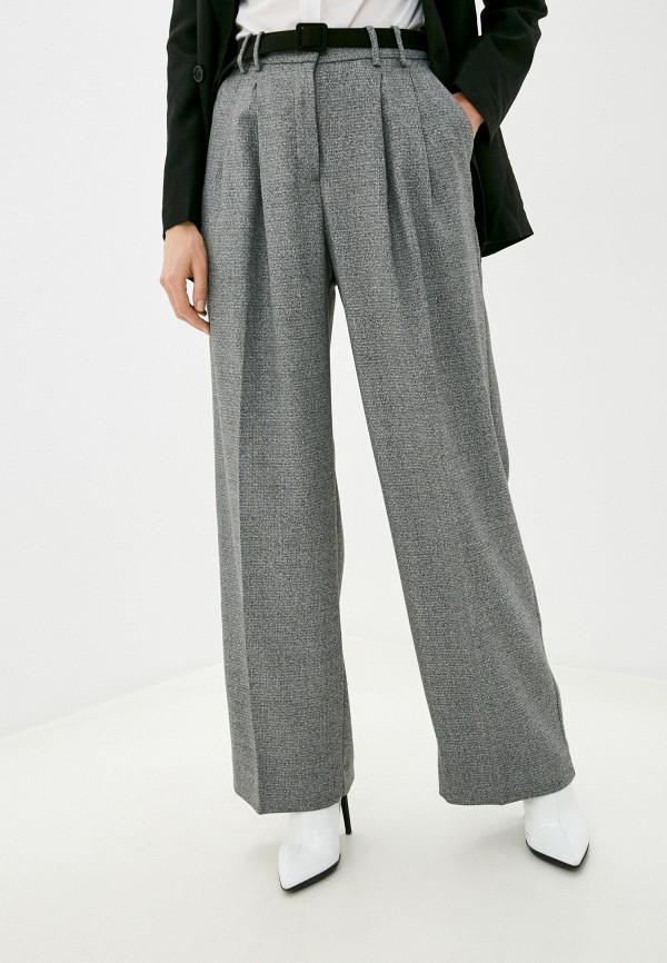 женские классические брюки imperial, серые