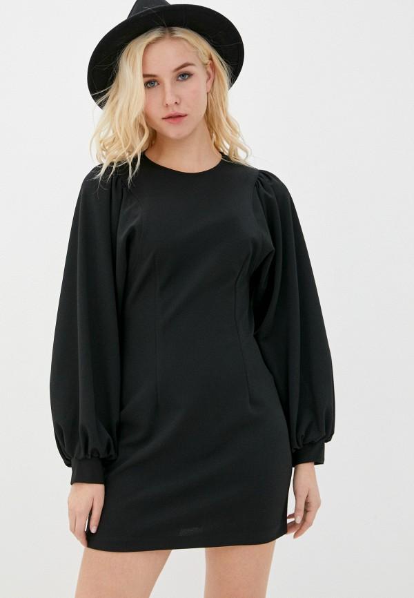 женское платье-футляр imperial, черное