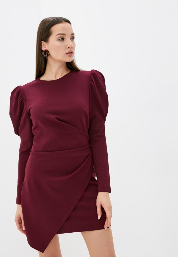 женское повседневные платье imperial, бордовое