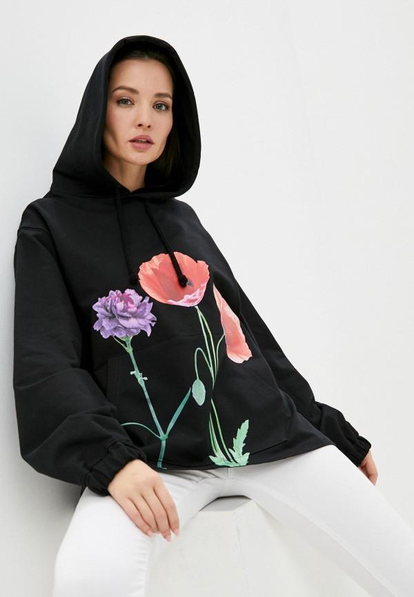 женские худи imperial, черные