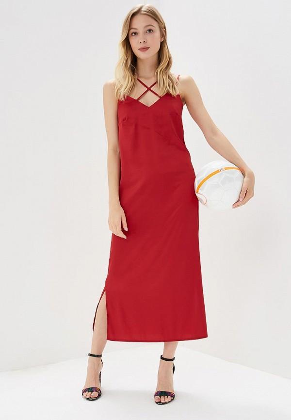 Купить Платье Imocean, IM007EWBWMU8, бордовый, Весна-лето 2018