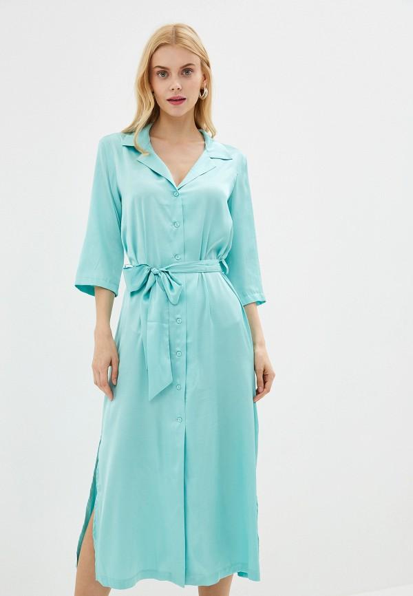 Купить женское платье Imocean бирюзового цвета
