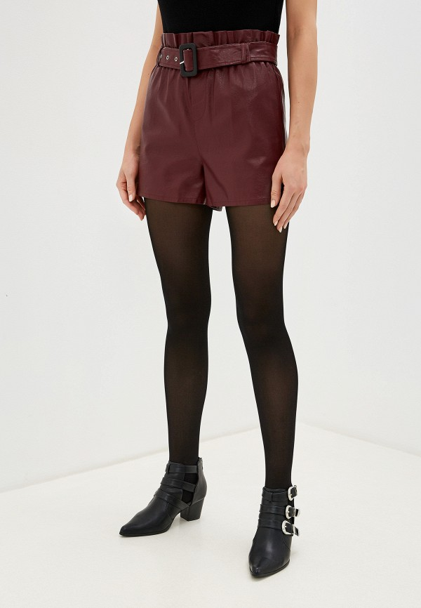женские повседневные шорты imocean, бордовые