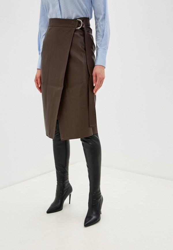 женская юбка imocean, коричневая