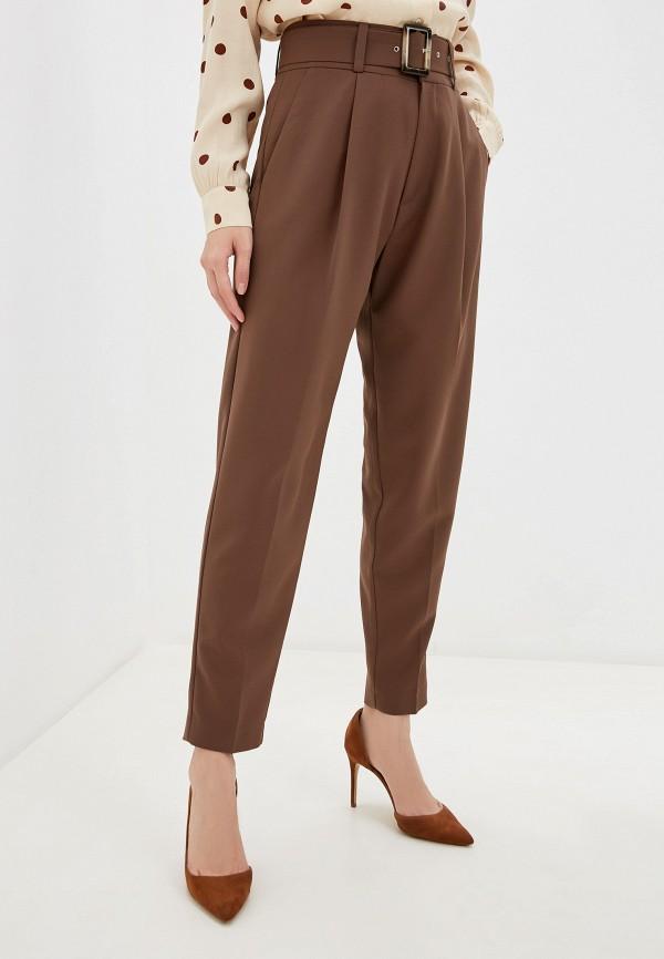 женские классические брюки imocean, коричневые