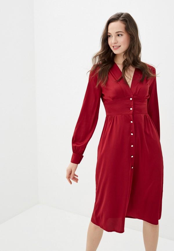 женское повседневные платье imocean, бордовое