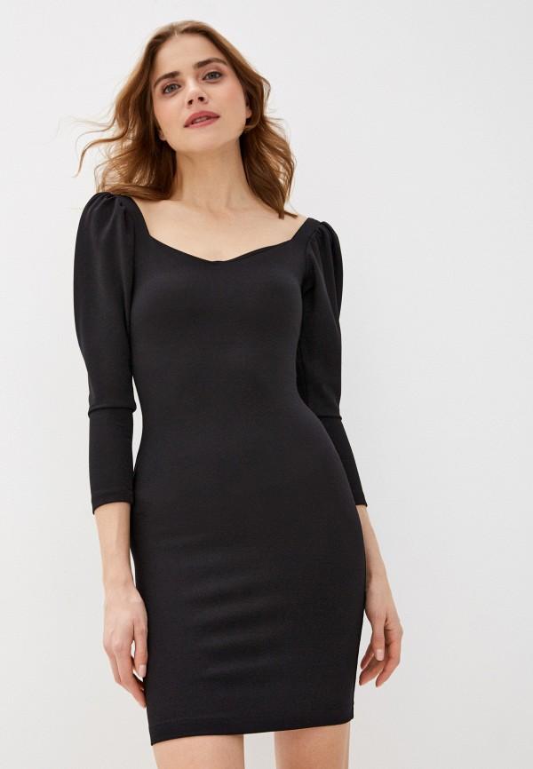 женское платье-футляр imocean, черное